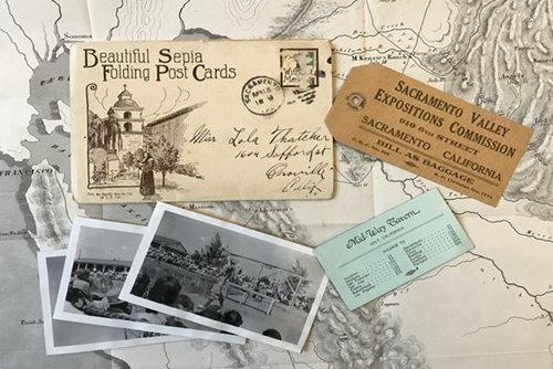 Postcards and ephemera from the Sacramento Room archives